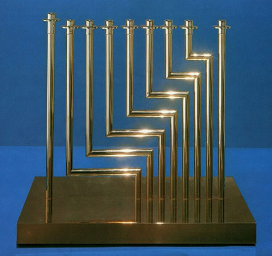Yaacov Agam Sculpture, Levels Menorah, 1966.