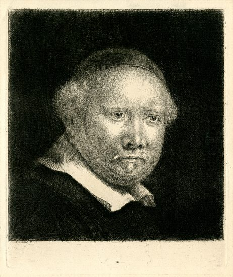 Rembrandt Etching, Lieven Van Coppenol, The Larger Plate, c. 1658