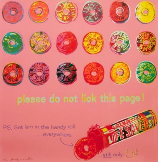 Andy Warhol Screen Print, Life Savers, 1985