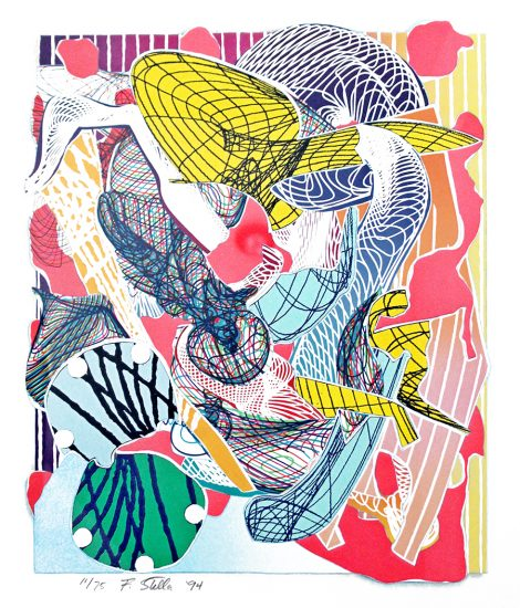 Frank Stella Lithograph, Limanora, from the Imaginary Places Series, 1994