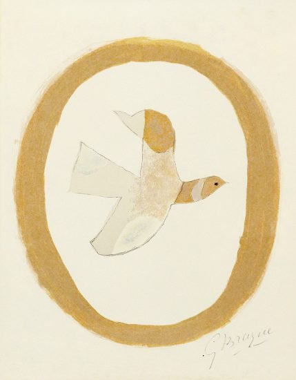 Georges Braque Lithograph, L'oiseau de sables (Bird of the Sands), from Braque Lithographe, 1962