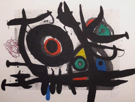 Joan Miró Etching, L'Oiseau Destructeur (The Destructive Bird), 1969
