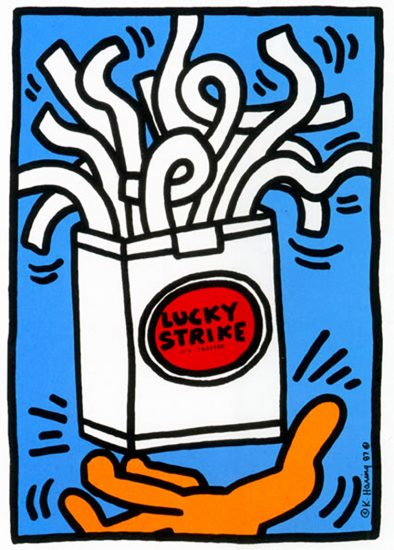 Keith Haring Silkscreen, Lucky Strike (Plate 2), from the Lucky Strike Portfolio, 1987