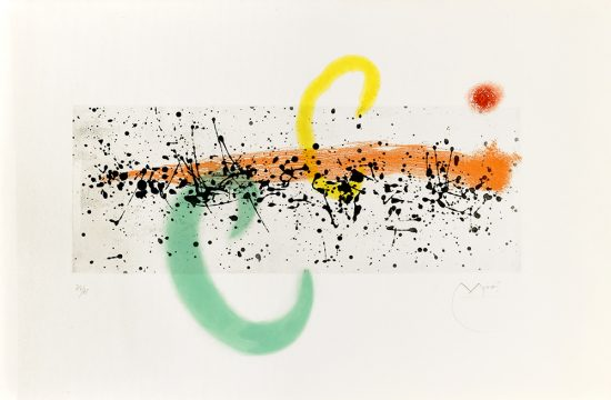 Joan Miró Aquatint, Lune et Vent (Moon and Wind), 1963