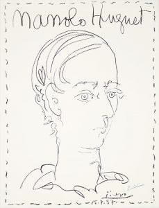 Pablo Picasso Lithograph, Manolo Huguet, 1957