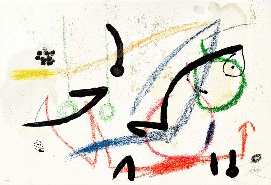 Joan Miró Lithograph, Maravillas Con Variaciones Acrósticas en El Jardín de Miró (Wonders with Acrostic Variations in Miró's Garden), Pl. 9, 1975