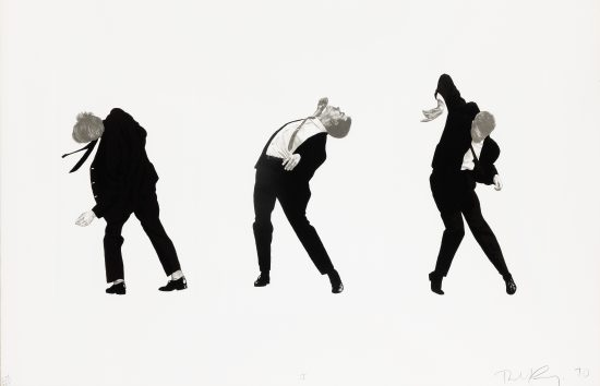 Robert Longo Lithograph, Men in the Cities (I) and (II), 1990 (Pair)