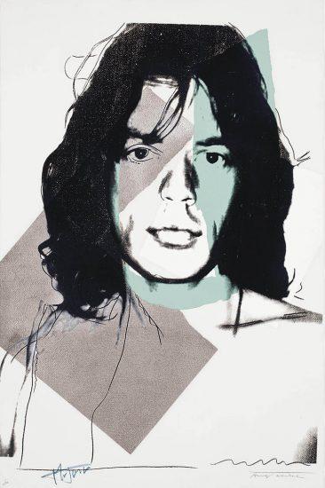 Andy Warhol Screen Print, Mick Jagger 138, 1975