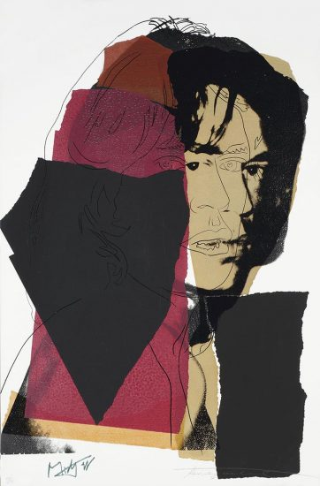 Andy Warhol Screen Print, Mick Jagger 139, 1975
