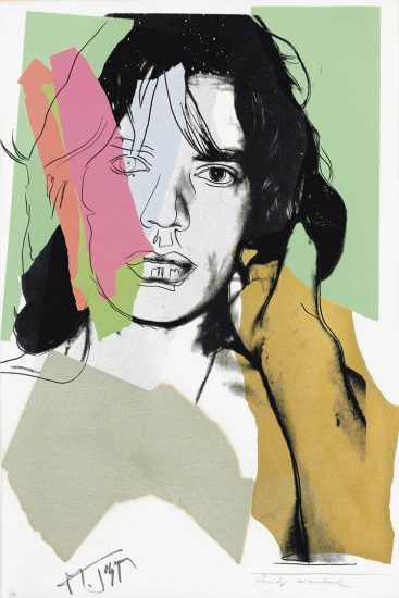 Andy Warhol Screen Print, Mick Jagger 140, 1975