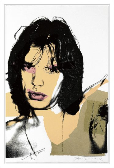 Andy Warhol Screen Print, Mick Jagger 141, 1975