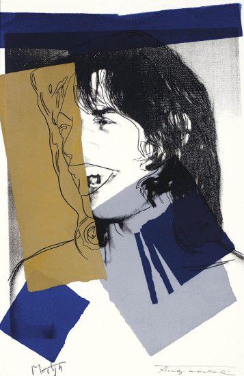 Andy Warhol Screen Print, Mick Jagger 142, 1975