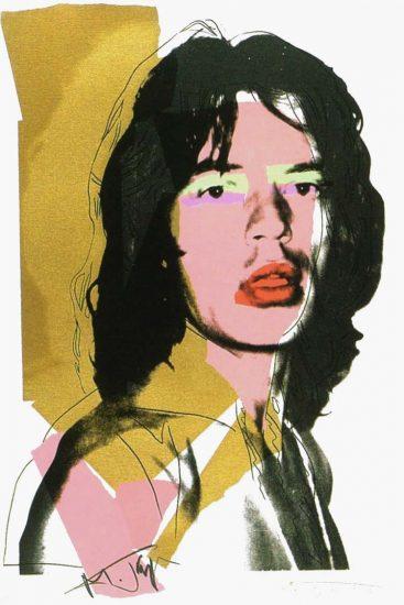 Andy Warhol Screen Print, Mick Jagger 143, 1975