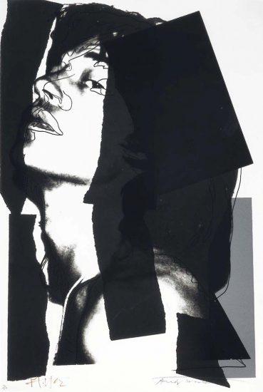 Andy Warhol Screen Print, Mick Jagger 144, 1975