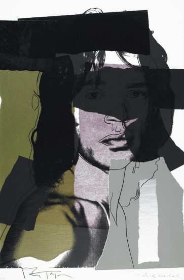 Andy Warhol Screen Print, Mick Jagger 145 (1975)