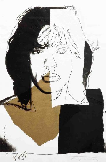 Andy Warhol Screen Print, Mick Jagger 146, 1975