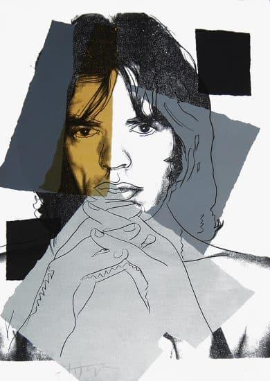 Andy Warhol Screen Print, Mick Jagger 147, 1975