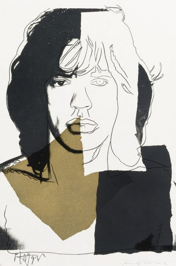 Andy Warhol Screen Print, Mick Jagger, 1975