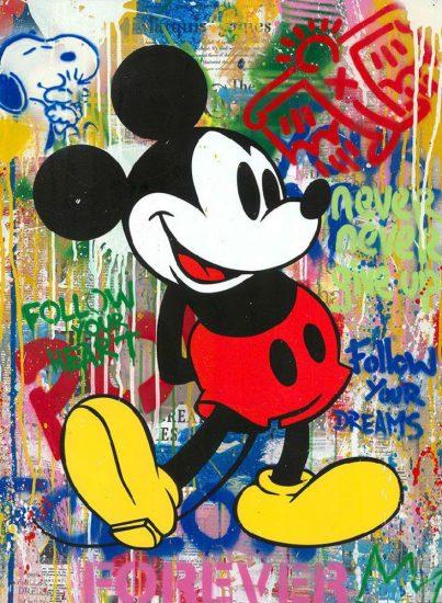 Mr. Brainwash Silkscreen, Mickey, 2020