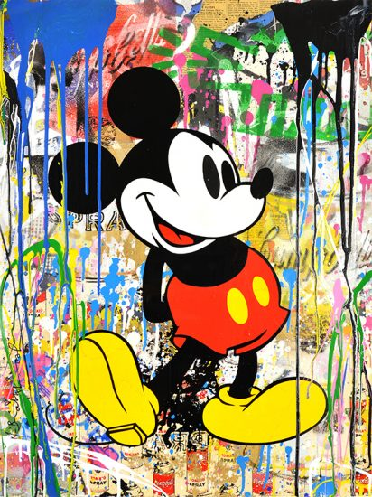 Mr. Brainwash Silkscreen, Mickey, 2018