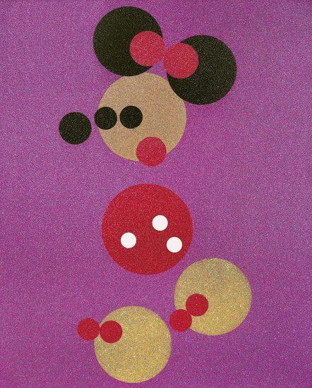 Damien Hirst Lithograph, Minnie (Pink Glitter), 2016