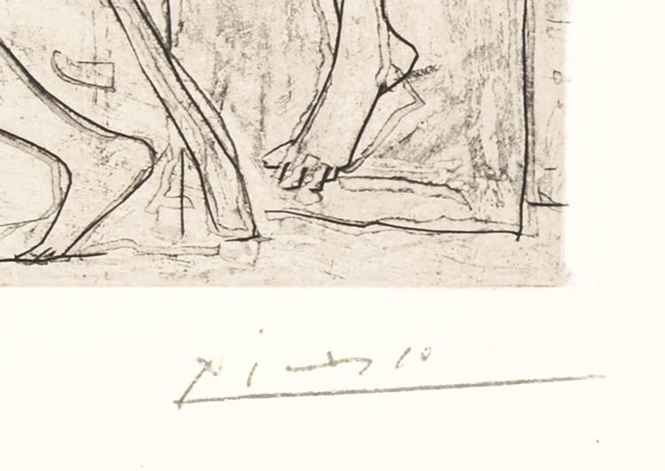 Pablo Picasso Minotaure Aveugle Guidé Dans La Nuit Par Une