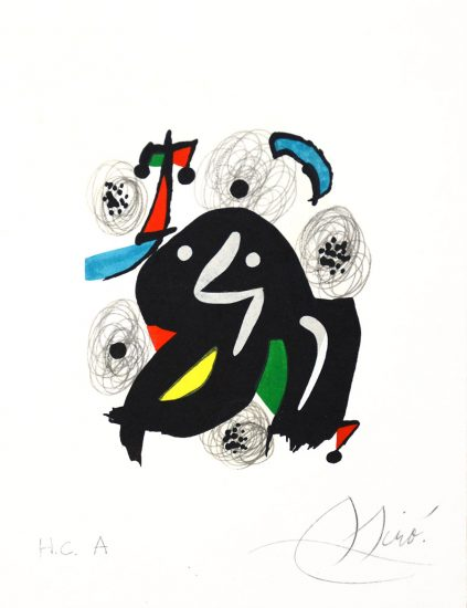 Joan Miró Lithograph, Miró Pl. 4 from La Mélodie Acide (The Acid Melody), 1980