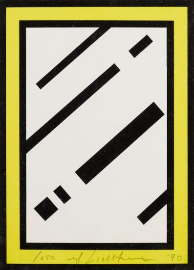 Roy Lichtenstein Lithograph, Mirror, 1990