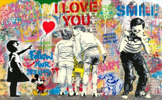 Mr. Brainwash Lithograph, Mixed Wall, 2021