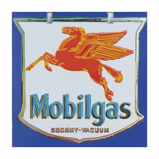 Andy Warhol Screen Print, Mobilgas, 1985 from Ads Series