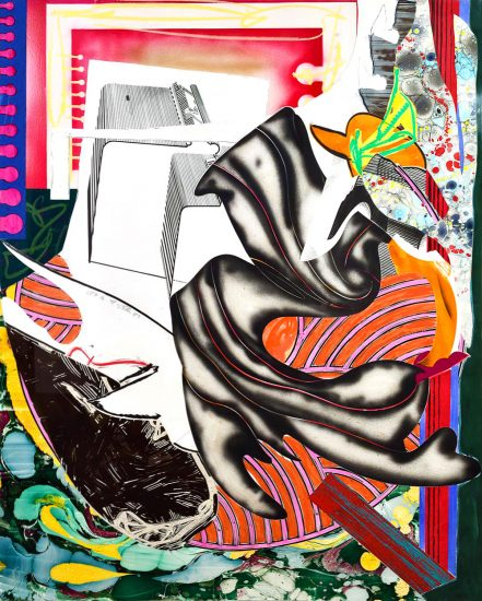 Frank Stella Mixed, Moby Dick, from The Waves, Unique Color Trial Proof, 1989