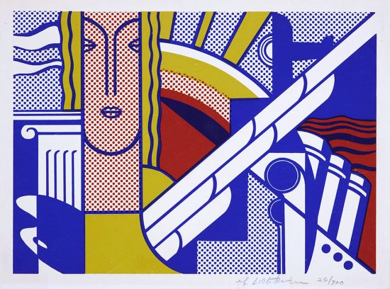 Roy Lichtenstein Screen Print, Modern Art Poster, 1967