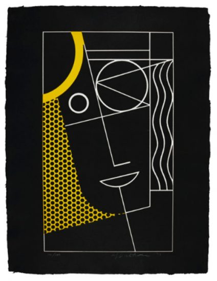Roy Lichtenstein Lithograph, Modern Head #2, 1970, C.92