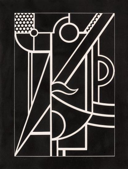 Roy Lichtenstein Linocut, Modern Head #3, 1970, C.93
