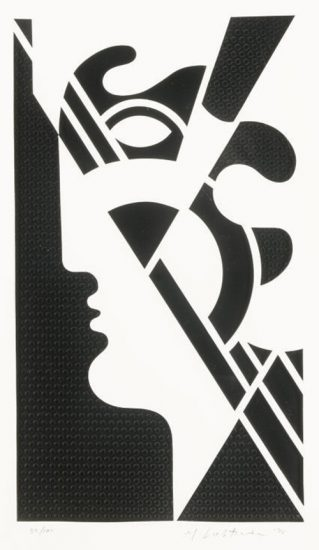 Roy Lichtenstein Lithograph, Modern Head #5, 1970, C.95
