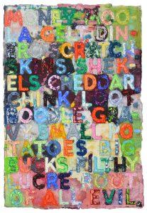 Mel Bochner Monotype, Money, 2018