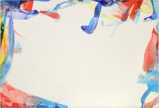 Sam Francis Lithograph, Monotype in Acrylic Untitled, 1966