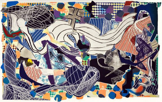 Frank Stella Lithograph, Monstrous Pictures of Whales, from the Moby Dick Deckle Edges Series, 1993
