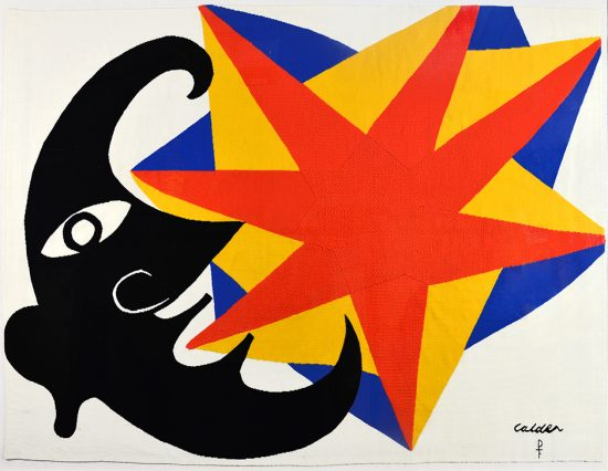Alexander Calder Tapestry, Moon and Star Tapestry, c. 1970