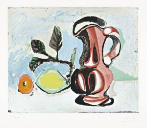 Pablo Picasso Aquatint, Nature morte au citron et un pichet rouge, c.1955
