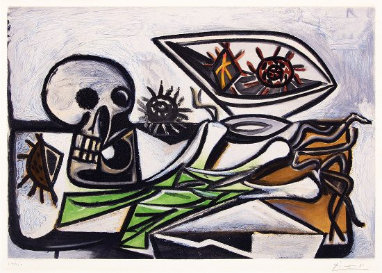 Pablo Picasso Aquatint, Nature morte au crane, c. 1960