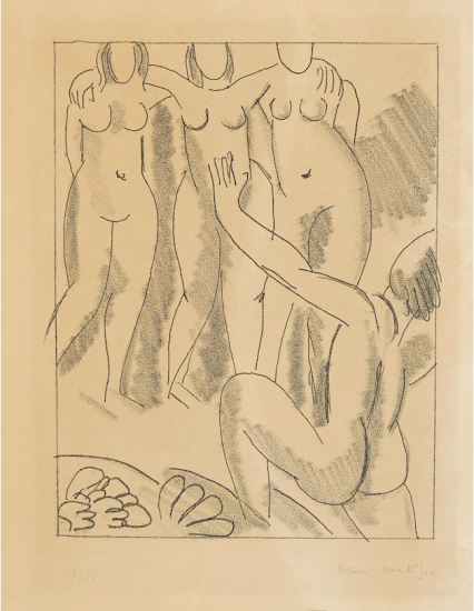 Henri Matisse Etching, Nausicaa from Ulysses, 1935