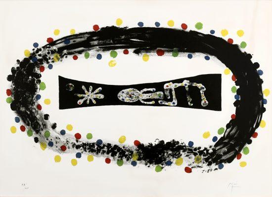 Joan Miró Lithograph, Nébuleuse (Nebula), 1958