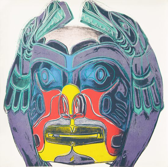 Andy Warhol Acrylic, Northwest Coast Mask, 1986