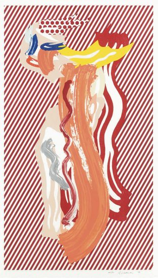 Roy Lichtenstein Lithograph, Nude, from Brushstroke Figures Series, 1989
