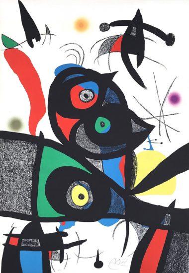Joan Miró Lithograph, Oda à Joan Miró (Ode to Joan Miró), 1973