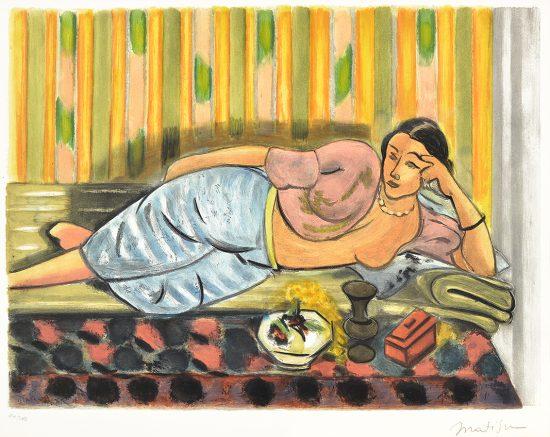 Henri Matisse Aquatint, Odalisque au coffret rouge (Odalisque with Red Box) , 1952