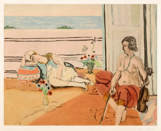 Henri Matisse Aquatint, Odalisque sur la terrasse (Odalisque on the Terrace), 1922