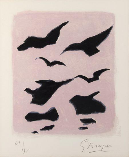 Georges Braque Lithograph, Oiseaux (Birds), 1962