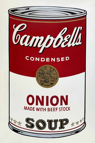 Andy Warhol Lithograph, Onion Soup, Campbell's Soup I